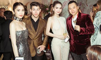 Ngọc Trinh diện đầm xẻ quá hông, dự tiệc cùng vợ chồng Nick Jonas - Priyanka Chopra tại Cannes