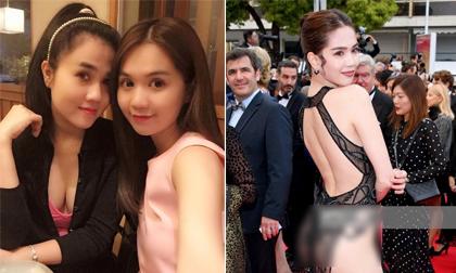 Chị gái khen ngợi loạt ảnh hở bạo của Ngọc Trinh ở Cannes: 'Bản lĩnh, xinh đẹp, dáng chuẩn...'