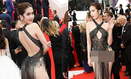 Trọn bộ ảnh Ngọc Trinh quyết 'chơi lớn', mặc táo bạo trên thảm đỏ Cannes