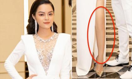 Đến lượt Phạm Quỳnh Anh bị 'di chứng' khi dùng photoshop khiến chân cong, mất đầu gối