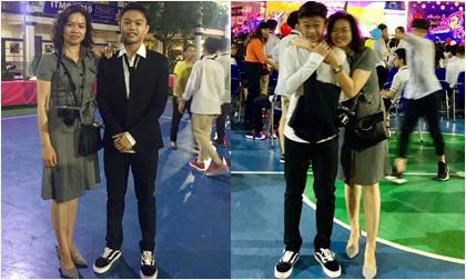 Mới hết cấp 2, con trai cố nhạc sĩ Trần Lập đã cao hơn mẹ 'hẳn một cái đầu'