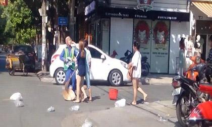 Hành hung nữ lao công vì bị nhắc nhở xả rác, chủ shop thời trang bị phạt 2,5 triệu đồng