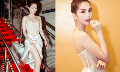 'Đổi chiêu' mới chỉ hở trên, Ngọc Trinh lấy lại phong độ nữ hoàng trên thảm đỏ VietNam Night tại Cannes