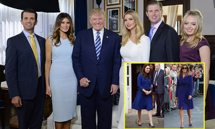 Tổng thống Trump sắp đưa đại gia đình cực phẩm đến thăm Hoàng gia Anh, hứa hẹn màn đụng độ giữa Công nương Kate và bà chủ Nhà Trắng