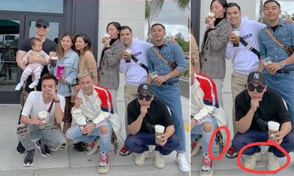Đăng ảnh chụp với gần tá người, Tóc Tiên vẫn bị thánh soi phát hiện ra đeo giày đôi với Hoàng Touliver