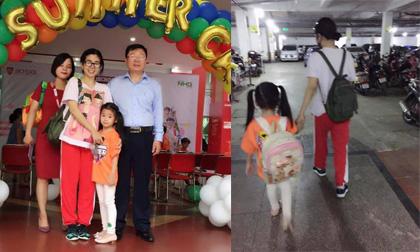 Ngày đầu tiên đi học hè của con gái, Mai Phương không khỏi lo lắng