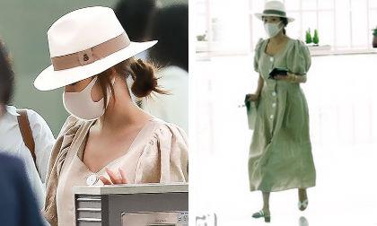 Đeo khẩu trang kín mít nhưng Park Min Young vẫn bị tóm gọn khi cùng gia đình sang nước ngoài du lịch