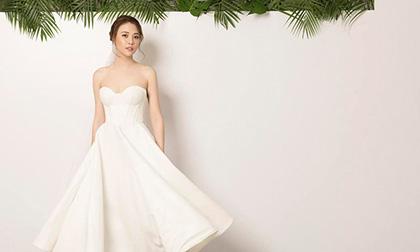 Hé lộ thêm đầm cưới trước hôn lễ, Đàm Thu Trang lại chia sẻ đầy ẩn ý