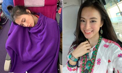 Bị chụp lén cảnh ngủ gật trên máy bay nhưng Angela Phương Trinh vẫn được khen ngợi hết lời