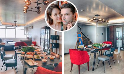 Vợ chồng MC Phương Mai tân gia nhà mới