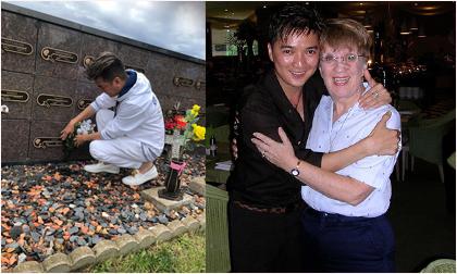 Đàm Vĩnh Hưng tới thăm mộ mẹ nuôi ngoại quốc tại Mỹ