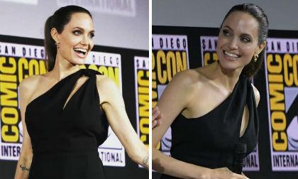 Đẳng cấp minh tinh của Angelina Jolie: Chỉ mặc đồ đen, make-up nhẹ nhàng cũng đủ tỏa sáng
