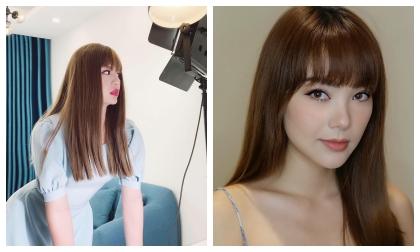 Duy Khánh chỉ đội tóc giả gái nhưng lại giống Minh Hằng đến ngỡ ngàng