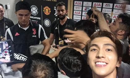 Dân mạng ganh tị khi diễn viên Bình An được gặp cầu thủ Cristiano Ronaldo