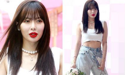"""HyunA chơi trội với quần 2 cạp, tự tin để lộ đôi môi """"xúc xích"""" sau màn khoe thân phản cảm gây tranh cãi"""