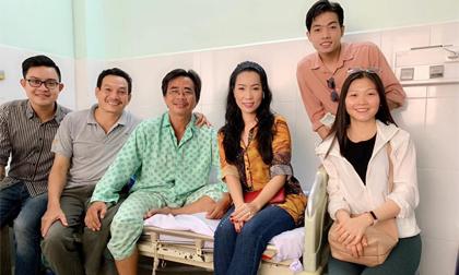 Á hậu Trịnh Kim Chi vào thăm và tiết lộ tình hình sức khỏe hiện tại của nghệ sĩ Trần Chánh Thuận