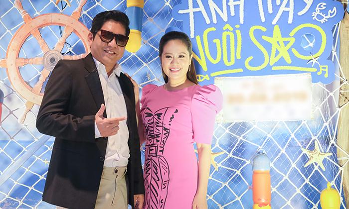 """Thanh Thuý xinh đẹp, trẻ trung dắt """"dàn gà nhí"""" đến ủng hộ ông xã trong dự án điện ảnh mới"""