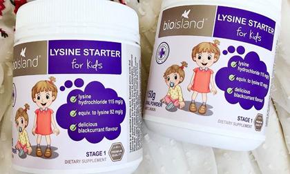 Bio Island Lysine Starter For Kids, Hàng xách tay Úc,