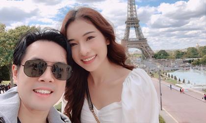 Vợ chồng Dương Khắc Linh tiếp tục tận hưởng kỳ nghỉ hậu đám cưới tại Pháp