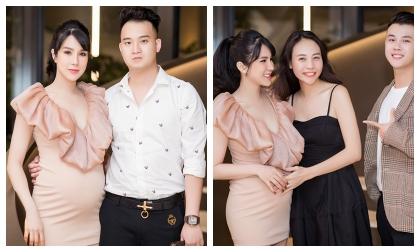 'Bà bầu' Diệp Lâm Anh rạng rỡ đón sinh nhật tuổi 30 bên bạn bè thân thiết