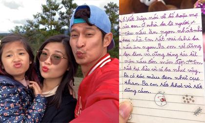 Diễn viên Huy Khánh nghẹn ngào khi đọc những dòng chữ con gái viết về ba