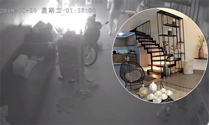 Quạt tích điện đang sạc bất ngờ phát nổ ngay cạnh xe máy, may mà chủ nhà phát hiện kịp
