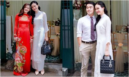 Người mẫu Tuyết Lan rạng rỡ cùng ông xã Việt kiều dự đám cưới chị gái ruột