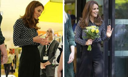 Bị nghi ngờ mang thai lần 4, Công nương Kate vẫn tự tin khoe vóc dáng siêu mảnh mai