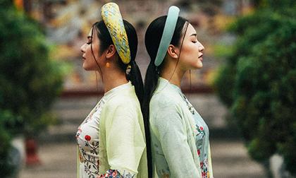 Ngọc Hân và 'nàng thơ xứ Huế' khoe dáng với áo dài cách điệu