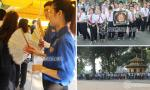 Sinh viên tình nguyện mướt mồ hôi quạt cho người dân xếp hàng viếng Đại tướng