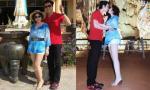 Người tình diện quần short khoe chân trắng ngần hôn Vũ Hoàng Việt đắm đuối
