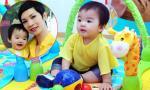Con gái Xuân Lan cực yêu được mẹ cho đi tiệc lần đầu khi tròn 9 tháng tuổi