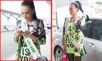 Cao Thùy Linh 'nổi bần bật' tại sân bay lên đường thi Hoa hậu Quốc tế