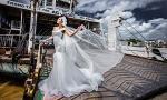 Lệ Quyên hóa cô dâu kiêu kỳ trên bến phà miền Tây