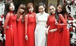 Cô dâu Quỳnh Trâm xinh đẹp với áo dài trắng trong ngày đính hôn