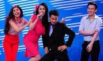 Bà bầu Phi Thanh Vân nhảy múa tưng bừng trên sân khấu