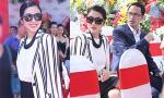 Hà Tăng xuất hiện như sao Hollywood cùng chồng Louis Nguyễn