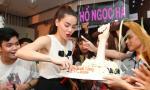 Hà Hồ được tổ chức sinh nhật sớm khi đi họp fan