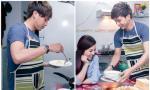 Hồ Quang Hiếu đảm đang vào bếp nấu ăn đãi 'người yêu'