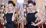 """Cao Thùy Linh đẹp ấn tượng với """"cây đen"""" quý phái"""