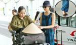 Bắt gặp Trương Thị May váy hoa, đi giày bệt ở sân bay