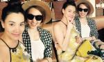 Trang Nhung 'tranh thủ' tiệc tùng cùng bạn bè trước ngày lâm bồn