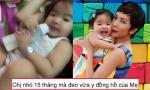 Con gái Xuân Lan 15 tháng tuổi tay đã to bằng mẹ