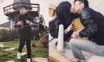 Bố con Subeo 'khóa môi' tình cảm khiến fans ghen tỵ
