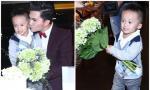 'Con trai' ôm hoa tới mừng sinh nhật Nam Cường