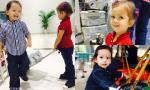 Hai con sinh đôi nhà Hồng Nhung tươi rói đi chơi công viên