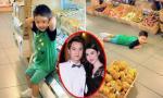 Con trai Đăng Khôi 'siêu quậy' khi đi siêu thị