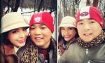 Vợ chồng Thúy Hạnh 'hâm nóng' tình yêu dưới tuyết lạnh