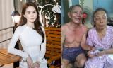 Ngọc Trinh được khen ngợi khi tặng quà cho cụ ông cụt chân nuôi vợ mù