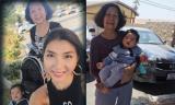 Ngọc Quyên vui mừng khi gặp lại mẹ ở Mỹ
